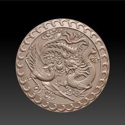 round_dragon_and_phoenix1.jpg Télécharger fichier STL gratuit dragon et phoenix • Objet à imprimer en 3D, stlfilesfree