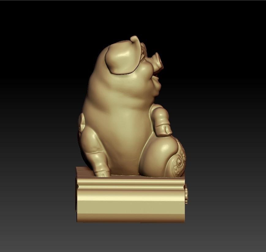 LuckyPig2.jpg Télécharger fichier STL gratuit Cochon chanceux • Plan pour imprimante 3D, stlfilesfree