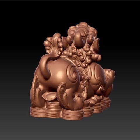 MythicalWildAnimal5.jpg Télécharger fichier STL gratuit Animal sauvage mythique • Design pour impression 3D, stlfilesfree