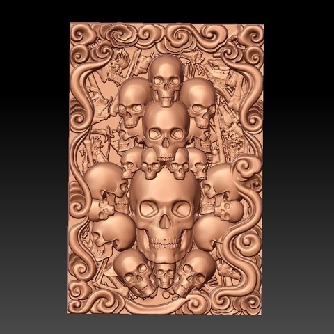 Skulls1.jpg Download free STL file skulls • 3D print template, stlfilesfree