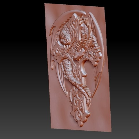 dragonCross4.jpg Download free OBJ file dragon on the cross • 3D printing design, stlfilesfree