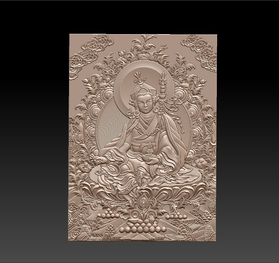 Thangka1.jpg Download free STL file Thangka paintings of bas-relief • 3D print template, stlfilesfree