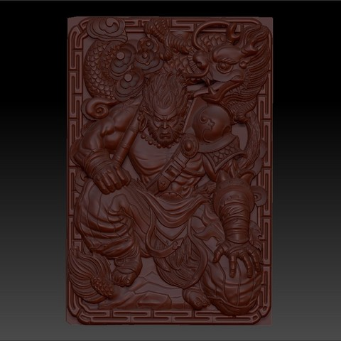 MonkeyKing1.jpg Download free OBJ file monkey king 3d model of bas-relief for cnc • 3D printing model, stlfilesfree