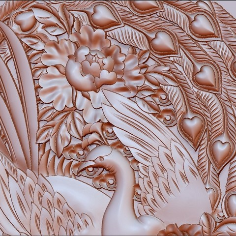 circularPhoenix5.jpg Download free STL file Phoenix 3d model of bas-relief • 3D printable object, stlfilesfree