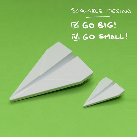 SAA_6594_LI.jpg Download free STL file Iconic Paper Plane (Stratomaker) • Object to 3D print, clockspring