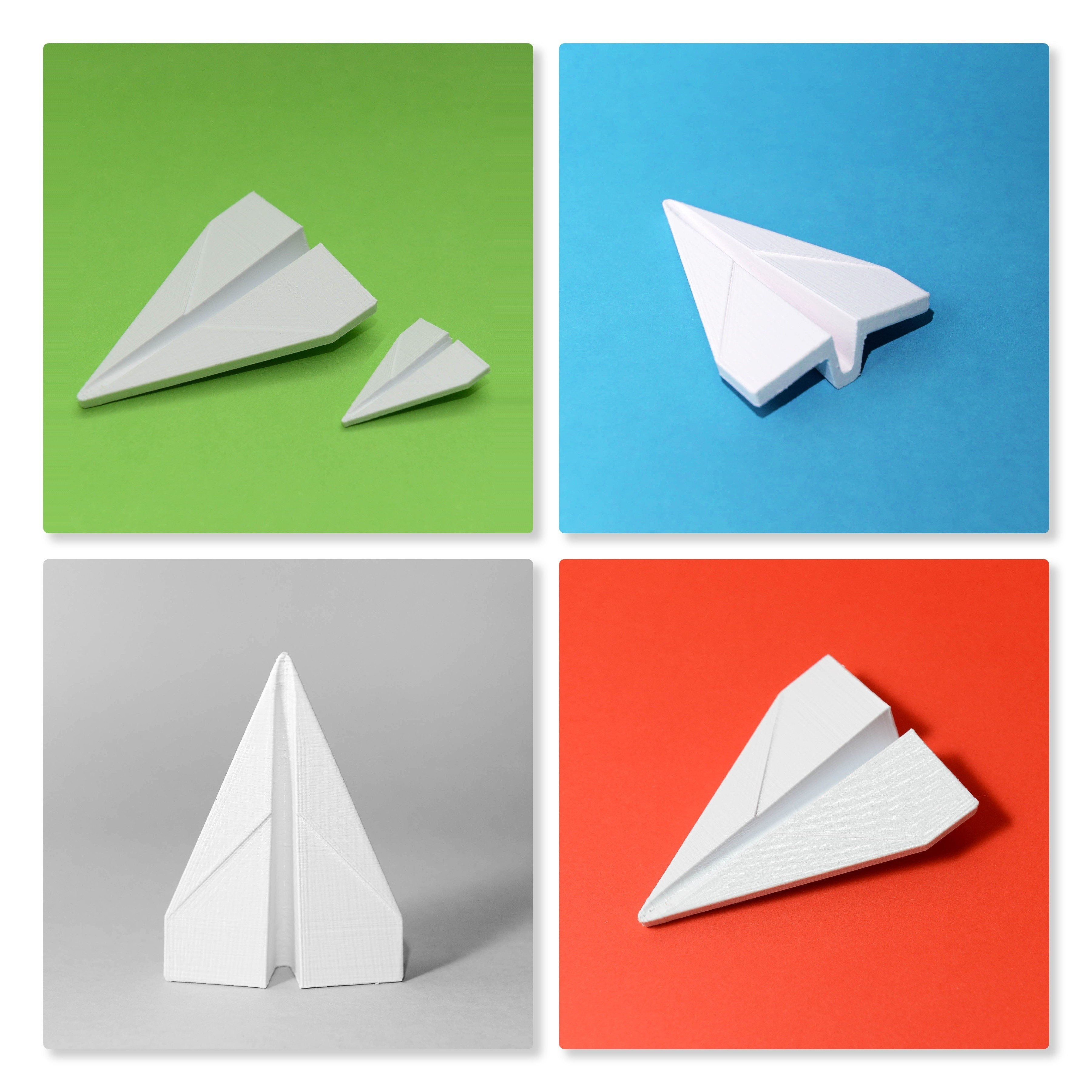 Planes.jpg Download free STL file Iconic Paper Plane (Stratomaker) • Object to 3D print, clockspring