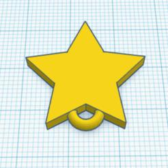 Capture.PNG Télécharger fichier STL gratuit Porte Clé Etoile • Design à imprimer en 3D, Eliott_Favino
