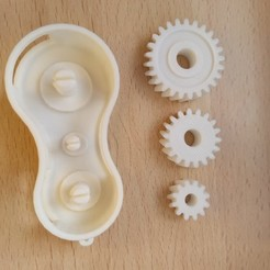 Free 3D print files Gears keychain, perycles57