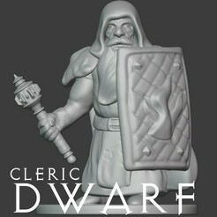 Cleric Dwarf.jpg Download free STL file Dwarf Cleric • 3D printer design, madisonmartin1990