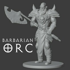 orc barbarian.jpg Download free STL file Orc Barbarus • 3D printing model, madisonmartin1990