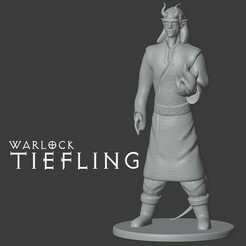 tiefling warlock.jpg Download free STL file Tiefling Witch • 3D printer model, madisonmartin1990