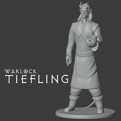 tiefling warlock.jpg Télécharger fichier STL gratuit Sorcière de Tiefling • Objet pour imprimante 3D, madisonmartin1990