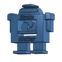 Free 3D printer file RoboStrat, trhoward