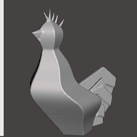 Free stl Rooster Mascott #STRATOMAKER, trhoward