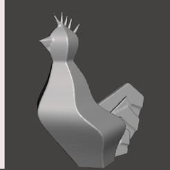 Download free STL files Rooster Mascott #STRATOMAKER, trhoward