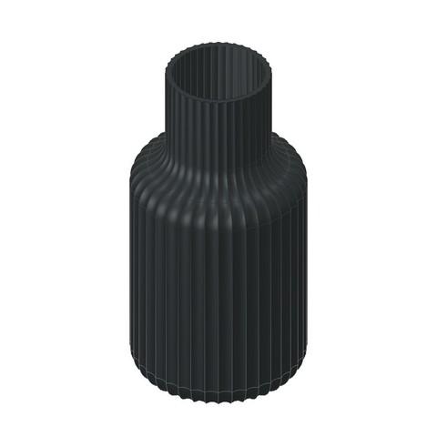 Ваза ребристая.jpg Download free STL file Vase • Object to 3D print, sotikov