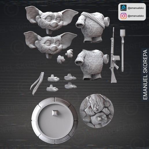 insta6.jpg Download STL file Gizmo Rambo • 3D printing design, emanuelsko