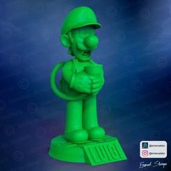 render1.jpg Download STL file Luigi Lamp • 3D printing template, emanuelsko