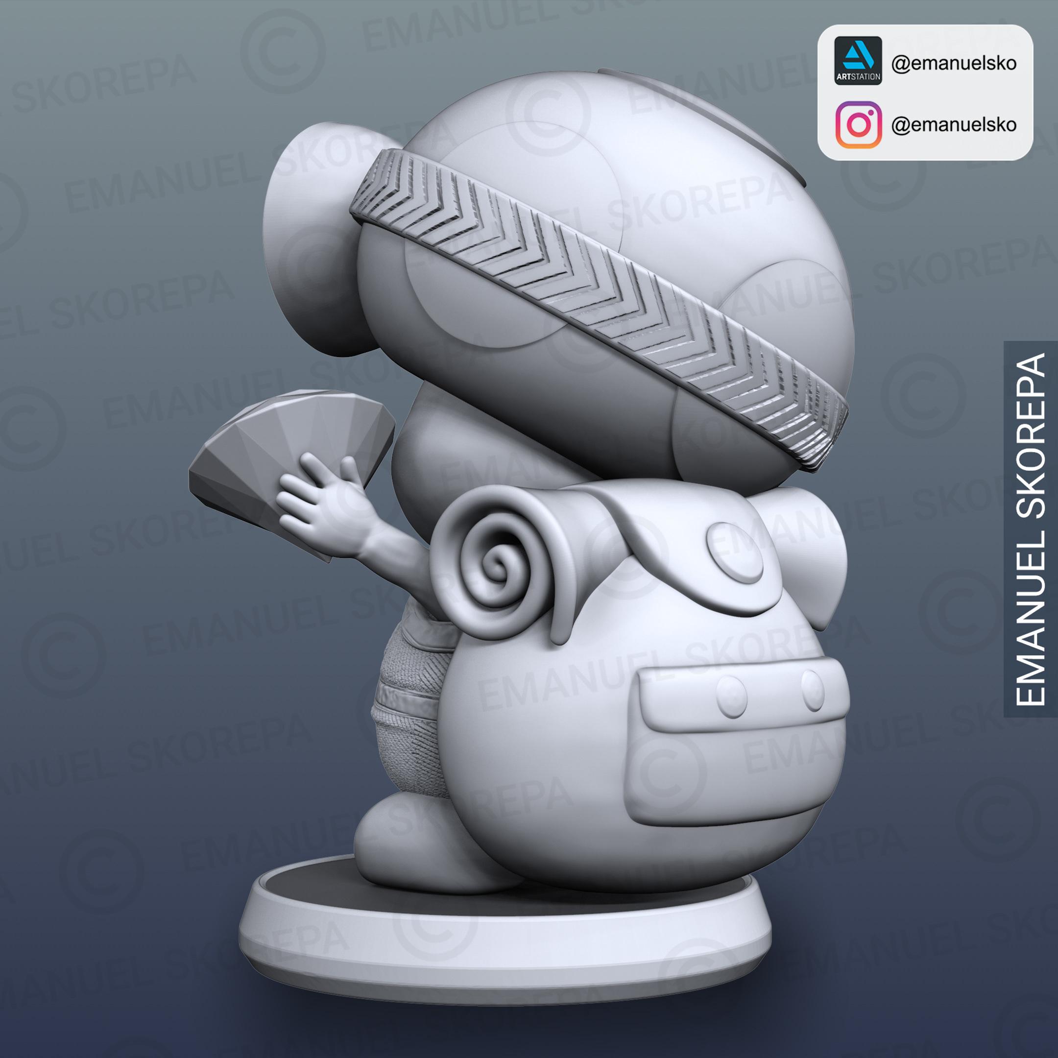 insta5.jpg Télécharger fichier STL Capitaine Crapaud Lampe • Objet pour imprimante 3D, emanuelsko