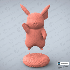 Download STL PIKACHU WOOLE, emanuelsko