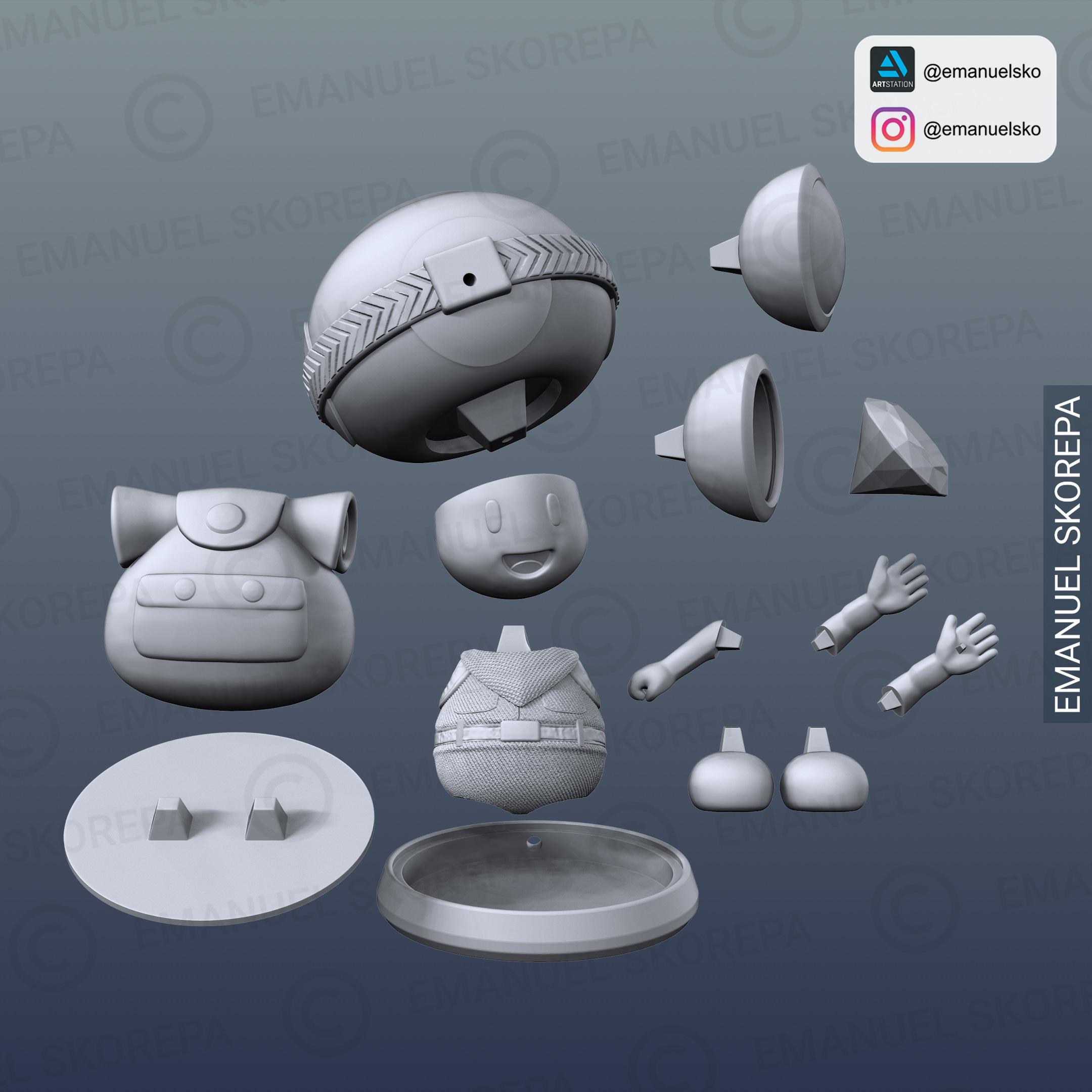 insta6.jpg Télécharger fichier STL Capitaine Crapaud Lampe • Objet pour imprimante 3D, emanuelsko