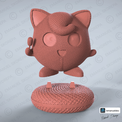 Download STL file JIGGLYPUFF WOOLE, emanuelsko