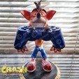 rend_3_large.jpg Download STL file Crash Bandicoot hold Nintendo Switch • 3D print model, emanuelsko