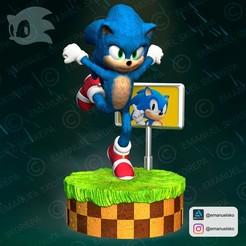 Descargar modelos 3D para imprimir Sonic Movie Version, emanuelsko