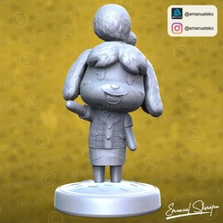 insta1.jpg Download STL file ISABELLE ANIMAL CROSSING • 3D printer template, emanuelsko