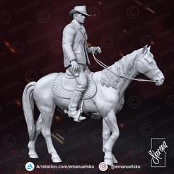 instagram1.jpg Download STL file Arthur Morgan • Template to 3D print, emanuelsko