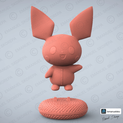 render 2.png Download STL file PICHU WOOLE • Object to 3D print, emanuelsko