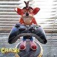 rend_4_large.jpg Download STL file Crash Bandicoot hold Nintendo Switch • 3D print model, emanuelsko