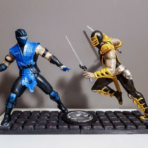 Free 3d printer model Diorama Mortal Kombat, emanuelsko