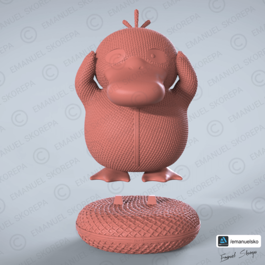 Descargar archivo 3D PSYDUCK WOOLE, emanuelsko
