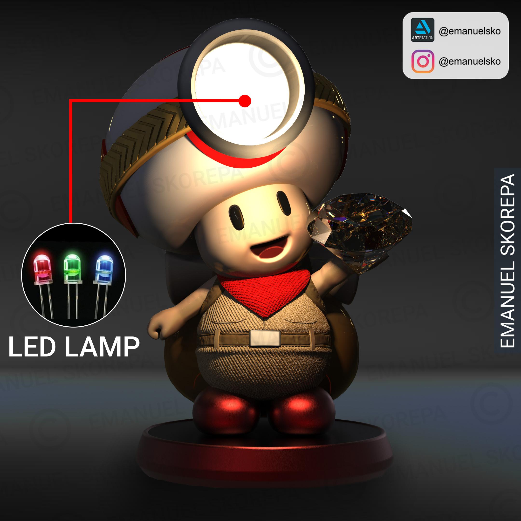 insta2.jpg Télécharger fichier STL Capitaine Crapaud Lampe • Objet pour imprimante 3D, emanuelsko