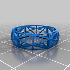Download free 3D printer designs Lowpoly Mesh Ring, phroy