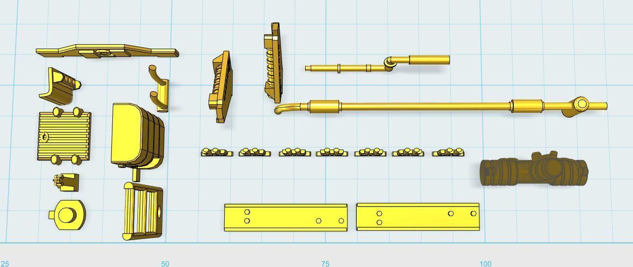 3.JPG Download free STL file Deagostini Millennium Falcon Missing parts set • 3D printing template, boryelwoc