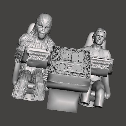h2.JPG Download free OBJ file Deagostini Cockpit Han and Chewie replacement parts • 3D print design, boryelwoc