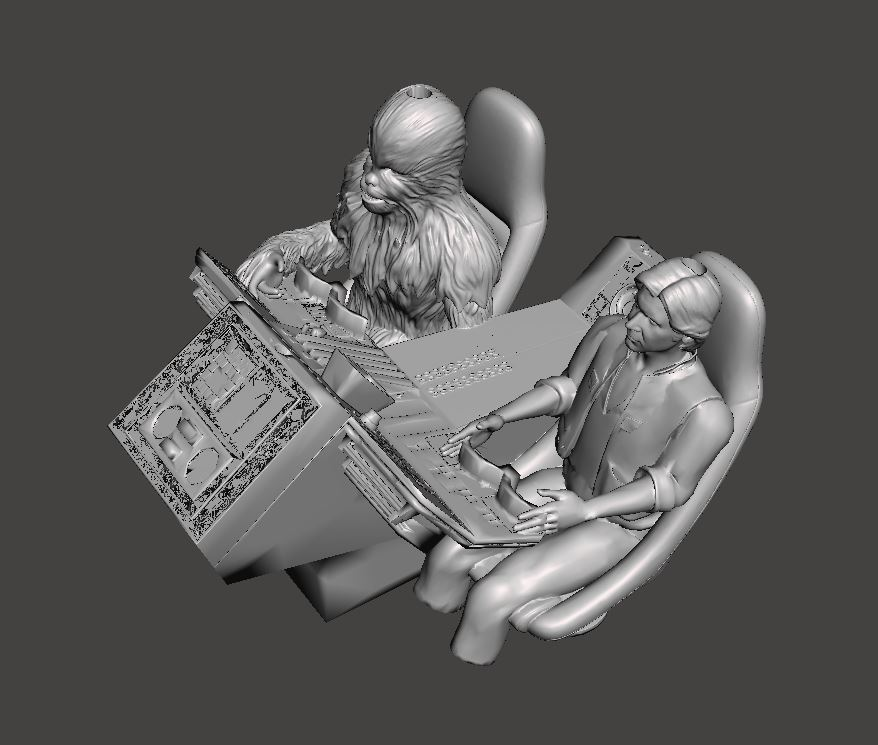 h1.JPG Download free OBJ file Deagostini Cockpit Han and Chewie replacement parts • 3D print design, boryelwoc