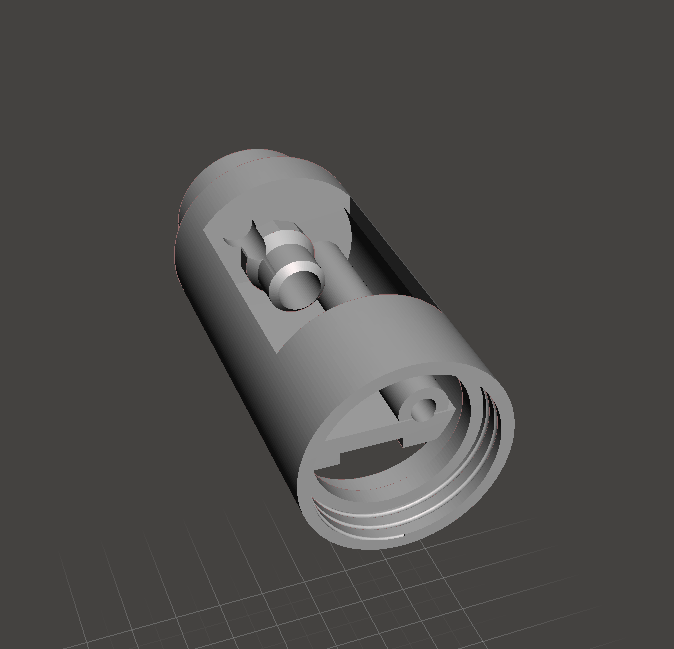 Capture.PNG Download free STL file Lightsaber Crystal Reveal chamber • 3D printing template, boryelwoc
