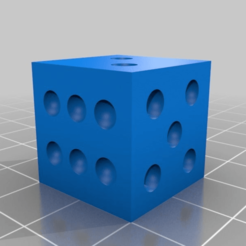 Download free 3D printing templates TEST CUBE DICE, boryelwoc