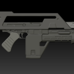Download 3D printer designs Aliens Pulse Rifle, boryelwoc