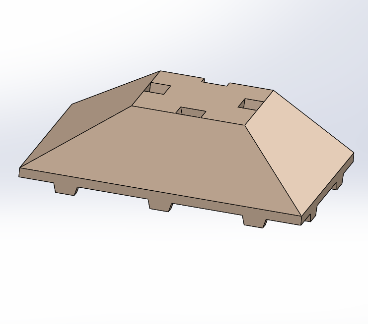 tegotoit3x2.PNG Download free STL file Tego 3-sided roof • 3D printable object, Thierryc44