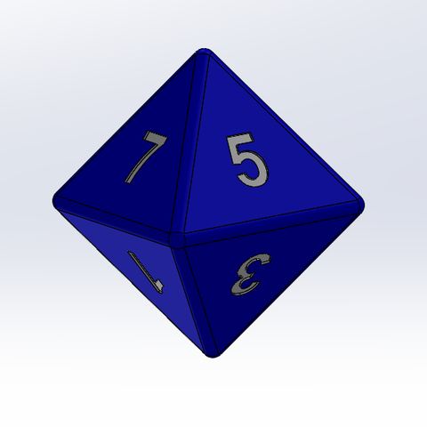 Free 3D model 8-sided die, Thierryc44