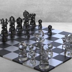 Descargar modelos 3D gratis Juego de ajedrez rey, Thierryc44