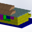 Download free 3D printer templates Tego 1-panel roof, Thierryc44