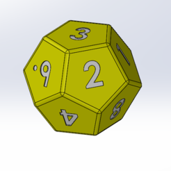 dé-12-faces-chiffres.PNG Download free STL file 12 sided dice • Design to 3D print, Thierryc44