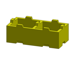 tego002.PNG Download free STL file Tego 2-pin • 3D printable template, Thierryc44