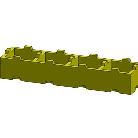 Free 3D printer designs Tego 4-pin, Thierryc44