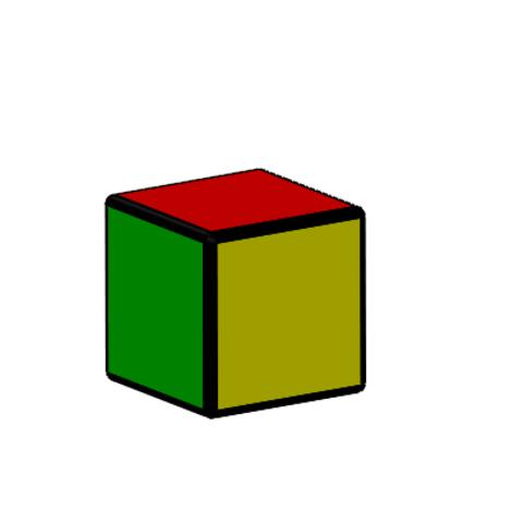 1x1.PNG Download free STL file Rubik cube • 3D printer object, Thierryc44